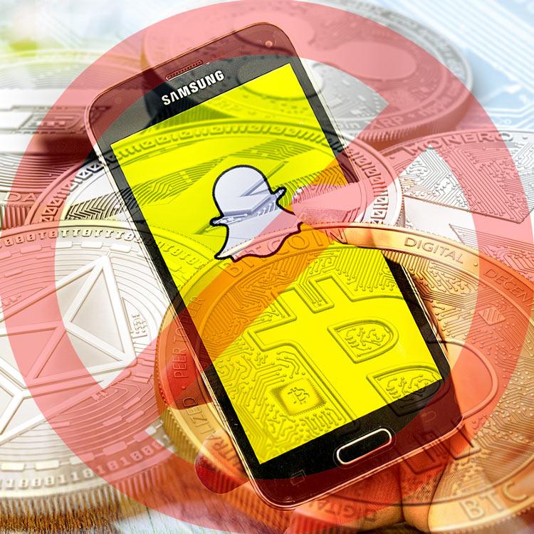 Snapchat se une a la prohibición de anuncios ICO