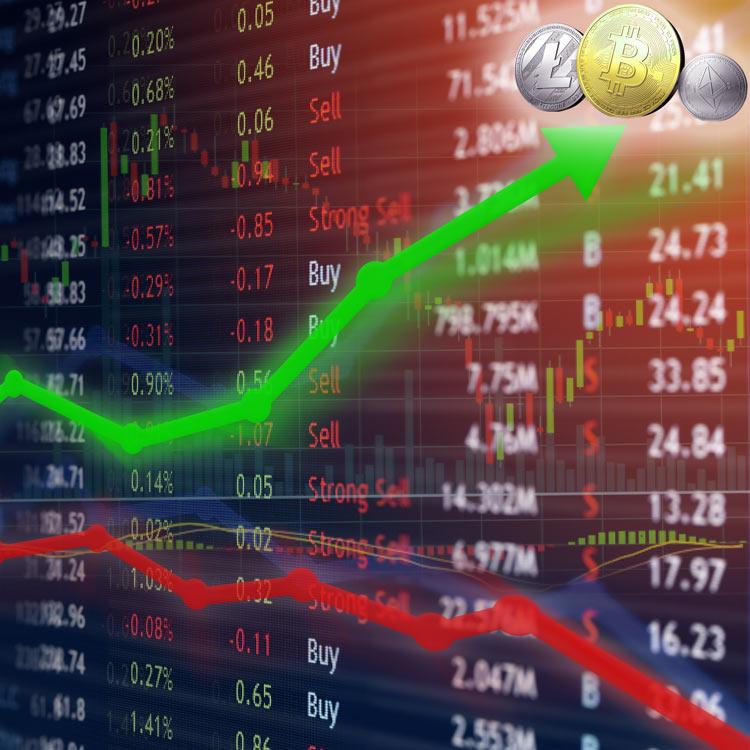 Bajan los mercados tradicionales y sube el criptomercado
